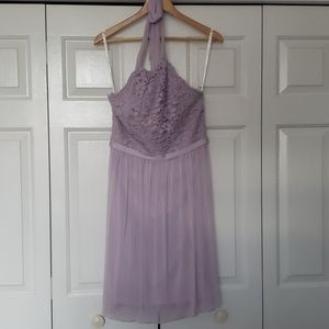 David's Bridal lavender bridesmaids dress